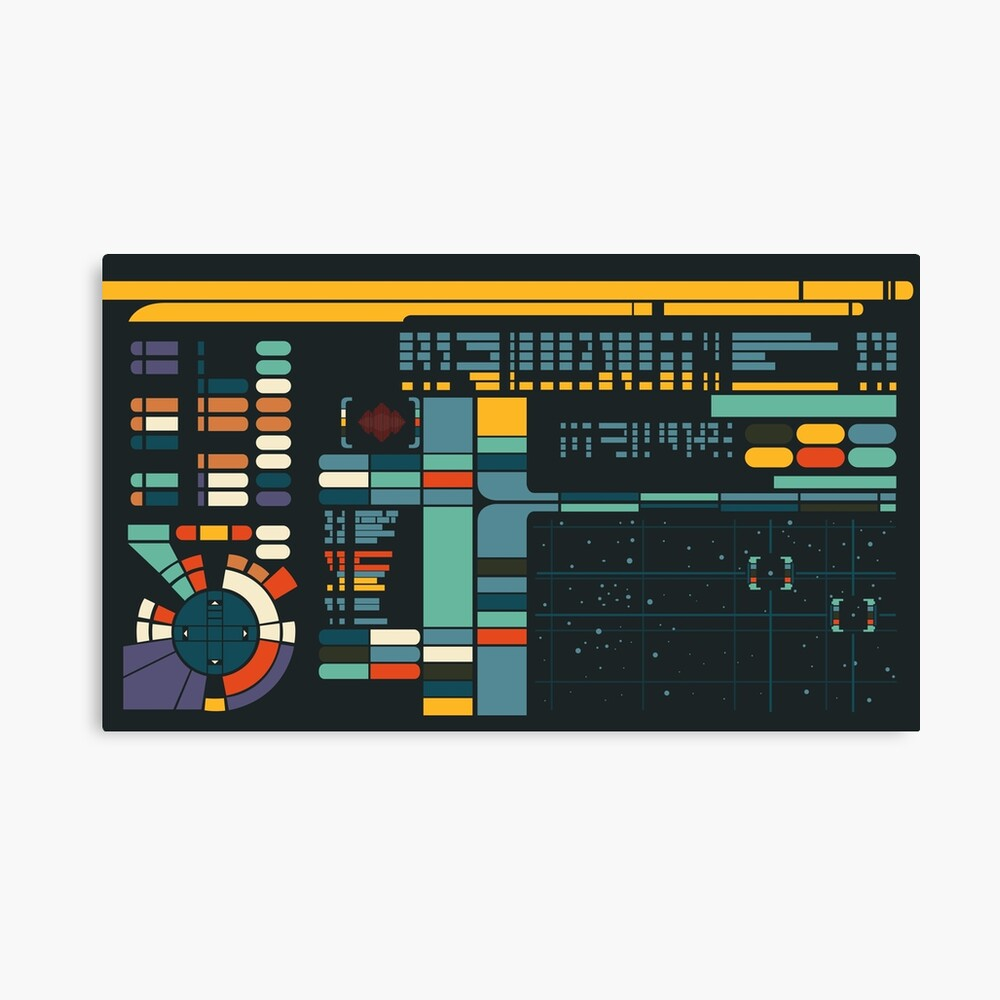 Control Interface Canvas Print
