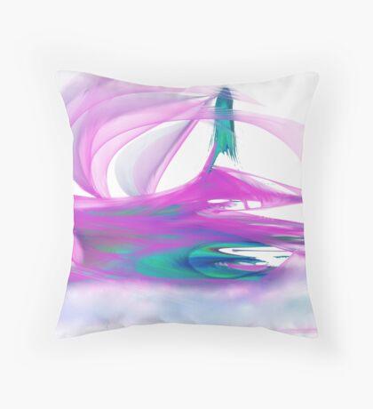 Alien Jetski Throw Pillow