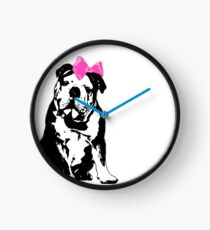 Betty Bulldog Clock