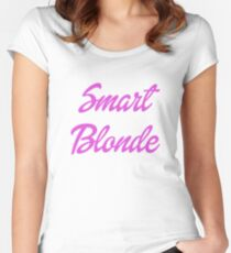Smart Blonde Women's Fitted Scoop T-Shirt