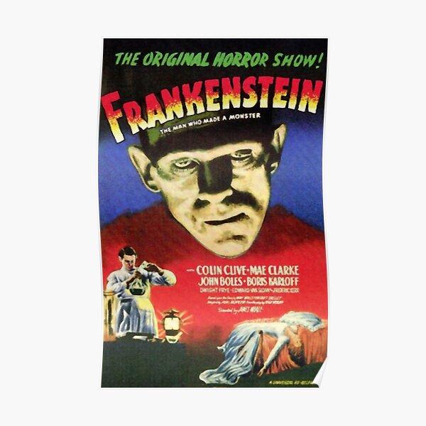 Frankenstein movie poster Poster