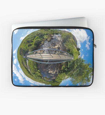 Footbridge over Glen River, Carrick, SW Donegal Laptop Sleeve