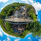 Footbridge over Glen River, Carrick, SW Donegal by George Row