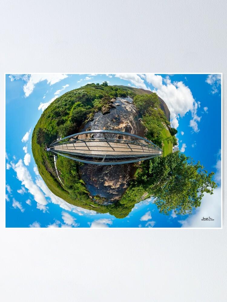Alternate view of Footbridge over Glen River, Carrick, SW Donegal Poster