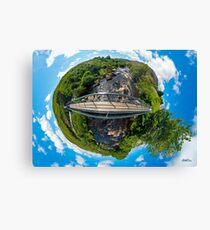 Footbridge over Glen River, Carrick, SW Donegal Canvas Print