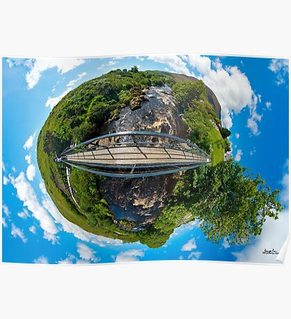 Footbridge over Glen River, Carrick, SW Donegal Poster