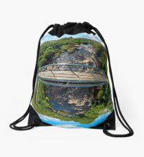 Footbridge over Glen River, Carrick, SW Donegal Drawstring Bag