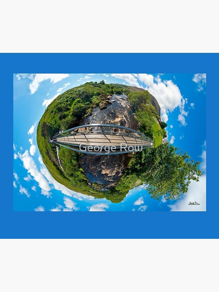 Footbridge over Glen River, Carrick, SW Donegal by VeryIreland