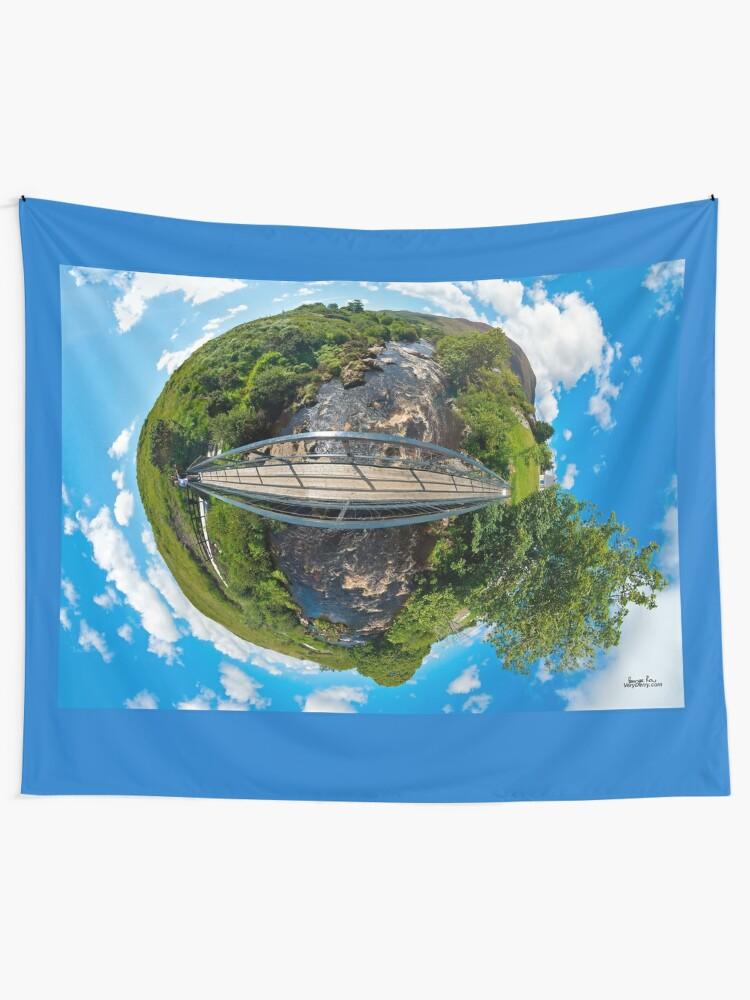 Alternate view of Footbridge over Glen River, Carrick, SW Donegal Tapestry