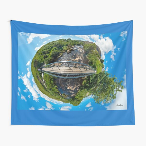 Footbridge over Glen River, Carrick, SW Donegal Tapestry
