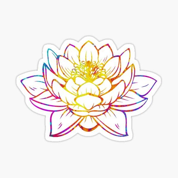 Aquarell Lotus Sticker