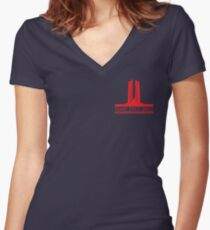 Vimy 100th Commemoration Women's Fitted V-Neck T-Shirt