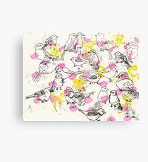 Vogelmuster Canvas Print