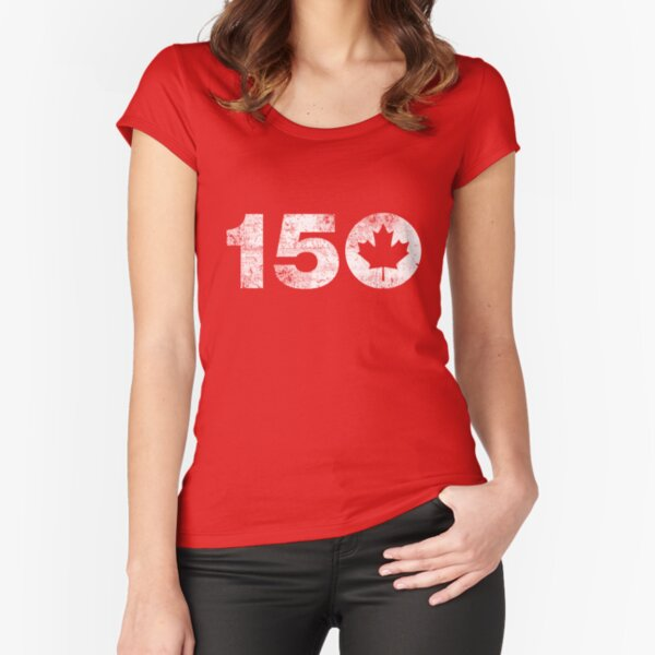 Canada 150 Fitted Scoop T-Shirt
