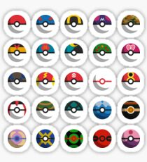 Pokéballs of the World Sticker