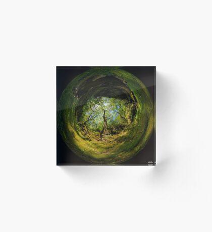 Ness Glen, Mystical Irish Wood Acrylic Block