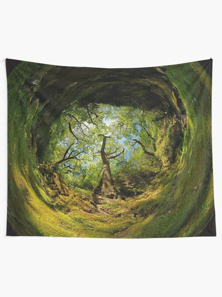 Alternate view of Ness Glen, Mystical Irish Wood Tapestry