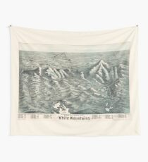 Aerial View of White Mountains, New Hampshire (1890) Wall Tapestry