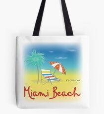 Sunny Miami Beach, Florida Tote Bag