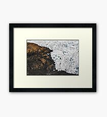 Border Between Rock and Ice Framed Print