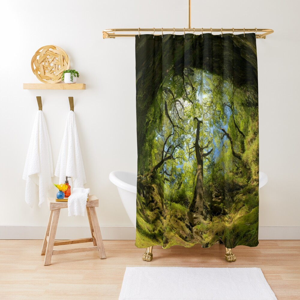 Ness Glen, Mystical Irish Wood Shower Curtain