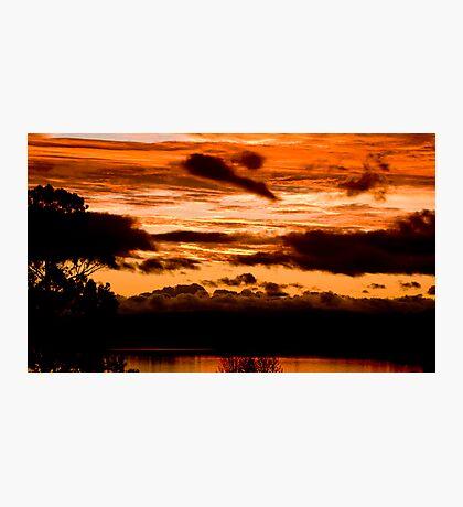 Sunset on Taupo lake  Photographic Print