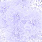 Dahlias In Soft Blue by Sandra Foster