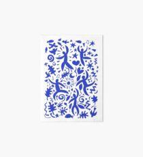 Cuban Salsa - blue on white - contemporary dance pattern by Cecca Designs Art Board