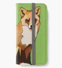 Foxy McFox-Face (AKA Sitting Staring Fox) iPhone Wallet/Case/Skin