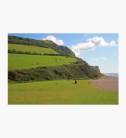 Branscombe Mouth Photographic Print