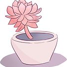 Pink Succulent by Mariewsart