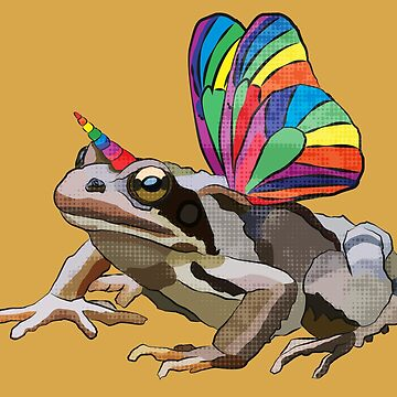 Frogicorn / Unitoad (Frog / Toad Unicorn Hybrid) #marchmemes by BeeFoxTree