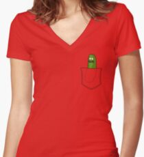 Pickle Rick! Women's Fitted V-Neck T-Shirt