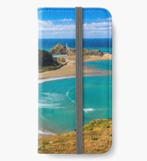 White lighthouse, location - Castlepoint, New Zealand iPhone Wallet/Case/Skin