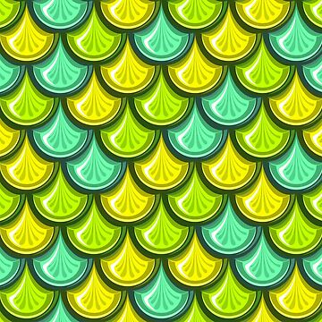Blue and Green Mermaid Scales by genderfvcked