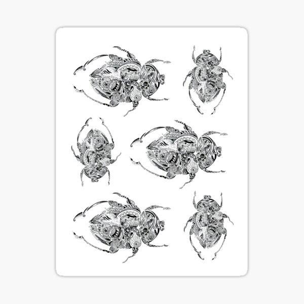 Escaravelhos Maori Sticker