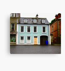 Blue House, Ramelton, Donegal, Ireland Canvas Print