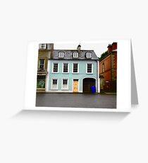 Blue House, Ramelton, Donegal, Ireland Greeting Card