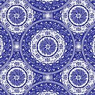 Blue and White Mandala  by SusanSanford