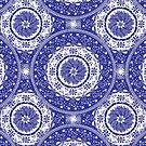 Blue and White Mandala  by SusanSanford