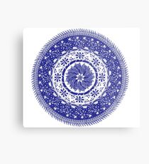 Blue and White Mandala  Metal Print