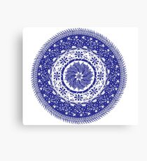 Blue and White Mandala  Canvas Print