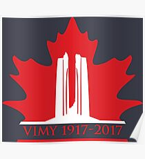 Vimy Memorial on Blazing Maple Poster