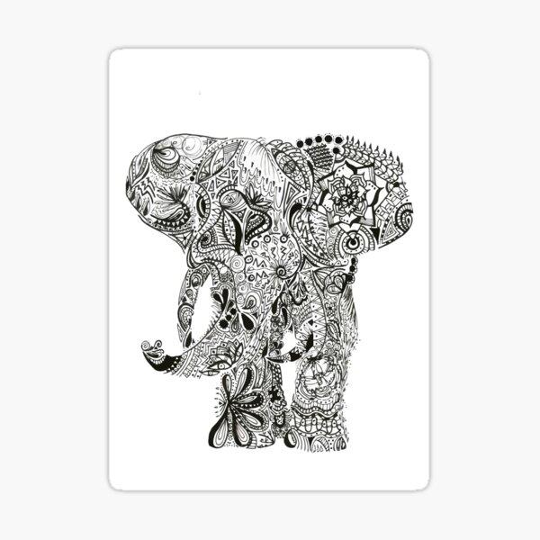 Elefante Maori Sticker