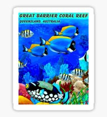 GREAT BARRIER CORAL REEF: Australia Advertising Print Sticker