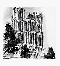 Ripon Cathedral - ink sketch Photographic Print
