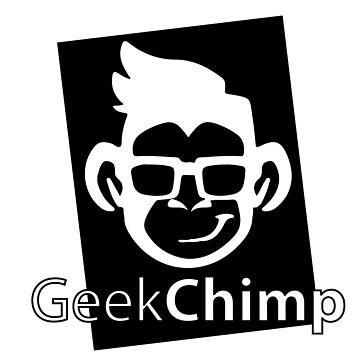 Geek Chimp T-Shirt Black & White by wellcesar