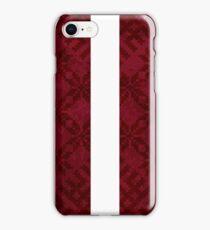 Latvian Flag with Traditional Pattern iPhone Case/Skin