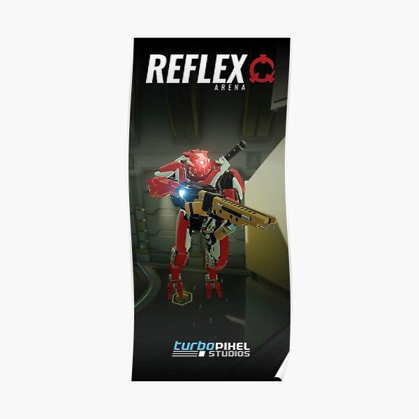 Reflex Arena - Red Hostile Robot Poster