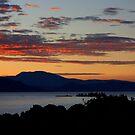 Sunrise on the lake by annalisa bianchetti